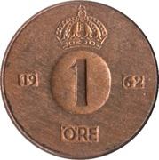 1 Öre - Gustaf VI Adolf – reverse