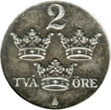 2 Öre - Gustaf V -  reverse