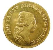 1 Dukat - Gustav IV Adolf (1st portrait) – obverse