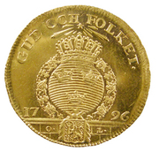 1 Dukat - Gustav IV Adolf (2nd portrait; Småland) – reverse