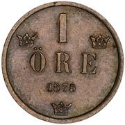1 Öre - Oscar II (small letters) – reverse