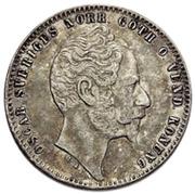 1 Riksdaler Riksmynt - Oscar I (long goatee) – obverse