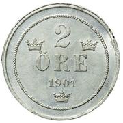 2 Öre - Oscar II (Pattern strike) – reverse
