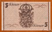 5 Kronor (King Gustaf V's Birthday) – reverse