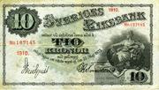 10 Kronor (Black value) – obverse