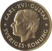 1000 Kronor - Carl XVI Gustaf (Swedish Coinage) -  obverse