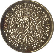 1000 Kronor - Carl XVI Gustaf (Swedish Coinage) -  reverse