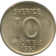 10 Öre - Gustaf VI Adolf -  reverse