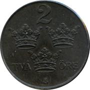 2 Öre - Gustaf V – reverse