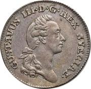 ⅙ Riksdaler - Gustav III -  obverse