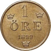 1 Öre - Oscar II (extra large letters) – reverse