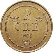 2 Öre - Oscar II (large letters) – reverse