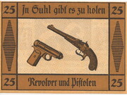 25 Pfennig (Weapon Series) – reverse