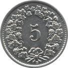 5 Rappen (magnetic) – reverse