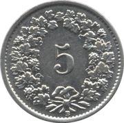 5 Rappen (magnetic) -  reverse