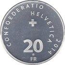 20 Francs (Patrouille Suisse) – reverse