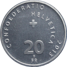20 Francs (Swiss Wrestling) – reverse
