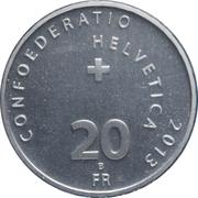 20 Francs (Swiss Wrestling) -  reverse