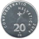 20 Francs (Jassen) – reverse