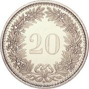 20 Rappen -  reverse