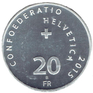 20 Francs (Hornussen) – reverse
