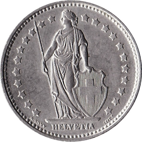 1 Franc Switzerland Numista