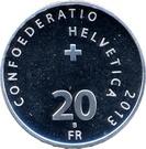 20 Francs (1st Transalpine Flight) – reverse