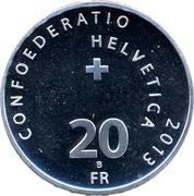 20 Francs (1st Transalpine Flight) -  reverse