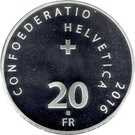 20 Francs (Red Cross) – reverse