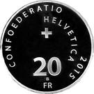 20 Francs  (Abbey of Saint-Maurice) – reverse