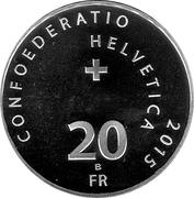 20 Francs  (Solar Impulse) -  reverse