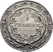 4 Franken – reverse
