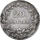 20 Batzen – reverse