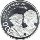20 Francs (500 years of reformation) – obverse