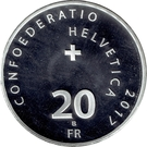 20 Francs (500 years of reformation) – reverse