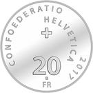 20 Francs (Yodelling) – reverse