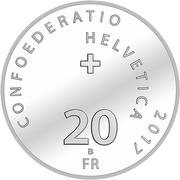20 Francs (Yodelling) -  reverse