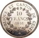10 Francs (Shooting Festival) – reverse