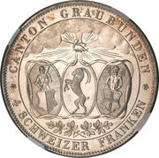 4 Francs – obverse