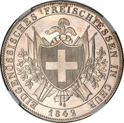 4 Francs (Shooting Festival) – reverse