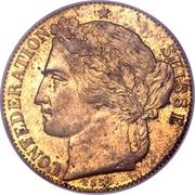 2 Francs (Brass; pattern) – obverse