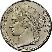 2 Francs (Silver; piedfort; pattern) – obverse
