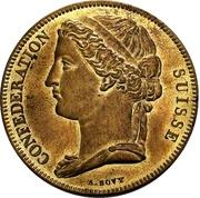 5 Francs (Pattern; brass) – obverse