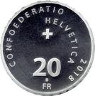 20 Francs (Swiss Alpine passes: Klausenpass) – obverse