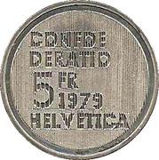 5 Francs (Einstein) -  reverse
