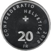 "20 Francs (Steamboat ""La Suisse"") -  obverse"