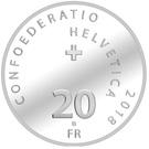 20 Francs (Swiss Army Knife) – obverse