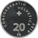 20 Francs (Circus Knie) – obverse