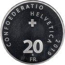20 Franc (1st Man on Moon 1969) – obverse