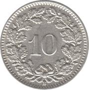 10 Rappen -  reverse